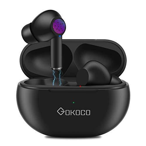 Bluetooth 5.0 Wireless Earbuds -GOKOCO Enhanced Deep Bass Bluetooth...