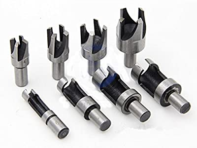 "Inton 5/8"" 1/2"" 3/8"" 1/4"" HSS Taper Claw Type Wood Plug Cutter Drill Bits"