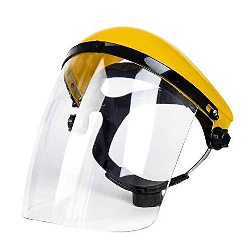 Duvets Pantalla Protección Facial,Protector Facial de Seguridad Industrial y Visera Ancha para Carpintería Rectificado Soldadura Segado