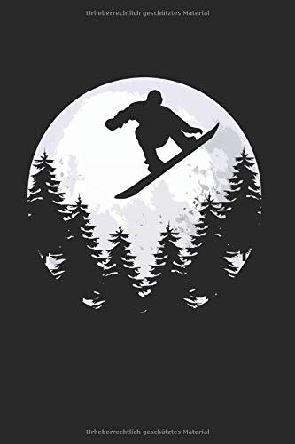Snowboard Mond | Notizheft/Schreibheft: Snowboard Notizbuch Mit 120 Linierten Seiten (Linien) Inkl. Seitenangabe. Als Geschenk Eine Tolle Idee Für Profi Snowboarder Oder Schnee Fans