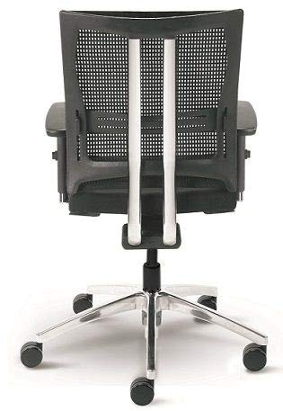 Testsieger Stiftung Warentest Bürostuhl Net Motion mit 3D Armlehnen Drehstuhl Schwarz