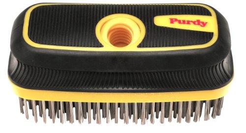 Purdy 140910300 Premium Wire Brush, 8 inch, Black/Yellow