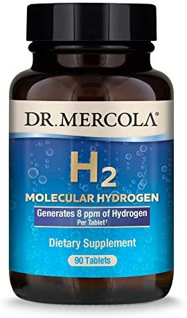 Dr Mercola H2 Molecular Hydrogen Dietary Supplement 90 Servings 90 Tablets Non GMO Gluten Free product image