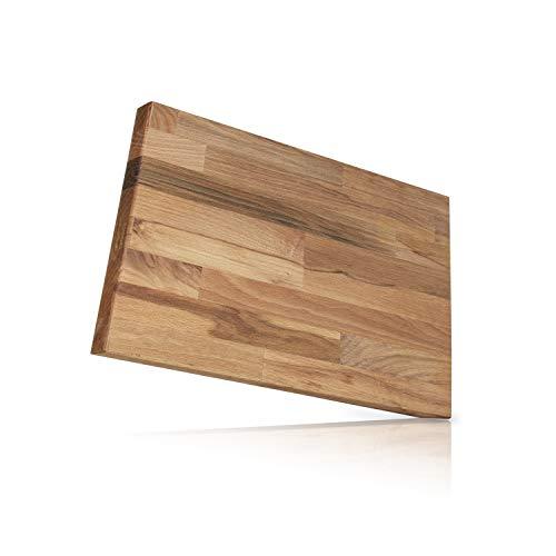 Behrwerk XL Schneidebrett Holz I 30 cm x 40 cm I Massives Buchenholz aus Europa Perfekte Schneideunterlage für die Küche - Perfekt als Kochbrett, Brot Schneidbrett und Küchenbrett