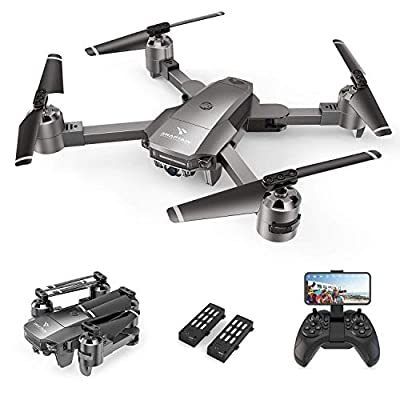 SNAPTAIN A15F Foldable Drone with 1080P HD Camera FPV WiFi RC Quadcopter, Optical Flow Positioning/ Voice Control/ Gesture Control/ Trajectory Flight/ Circle Fly/ 3D Flips/ G-Sensor/ Headless Mode