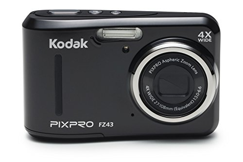 Kodak PIXPRO Friendly Zoom FZ43 16 MP Digital Camera with 4X Optical Zoom and 2.7' LCD Screen (Black)