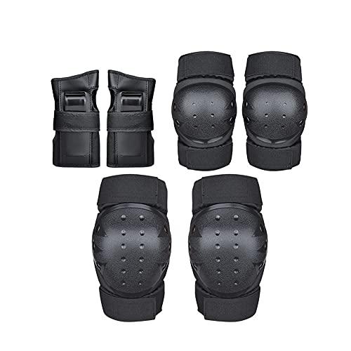 Chillers Protectors Set 6 en 1 Equipo de protección Profesional para niños y Adultos inliner Protector Set Protector de Rodilla Protector de Codo Protector de muñeca para patineta de Ruedas en línea