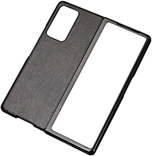 جراب جلد لهاتف Samsung Galaxy Z Fold 2 مضاد للصدمات مكون من قطعتين من جراب TPU - أسود