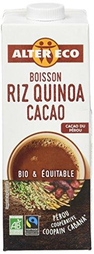 Alter Eco Boisson Riz Quino Cacao Bio et Equitable 1 L - Lot de 3