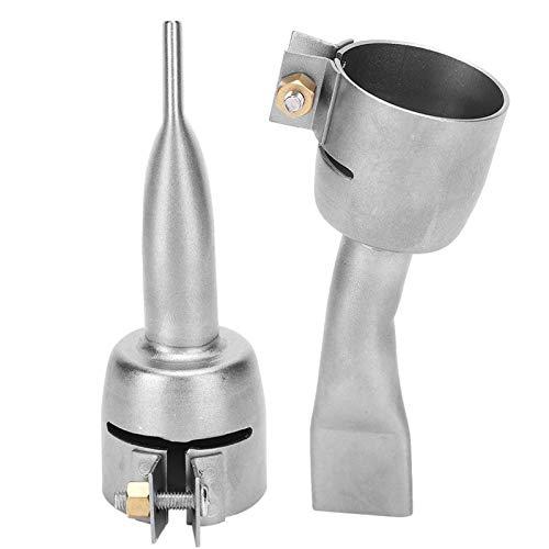 2Pcs Pistola ad aria calda Ugello per saldatura Saldatore in acciaio inox Torcia per riscaldamento Punte piatte Ugello per fogli di plastica in PVC Accessori per saldatura