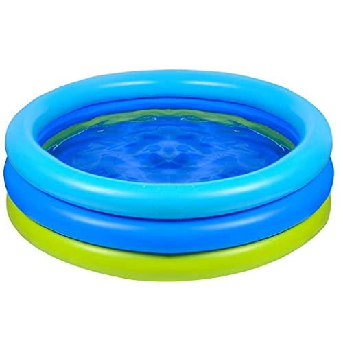 Peddelen Pool Kids Thicken Opblaasbare 3-Ring Badkuil Kaart Zomer Water Games 120x120x30cm Badbenodigdheden