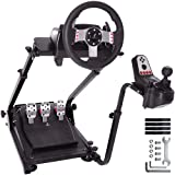 Minneer G923 Racing Steering Wheel Stand Pro for Logitech G25 G27 G29 G920 Racing Simulator Cockpit Gaming Frame Video Game Accessories Shifter Wheel Pedals NOT Included