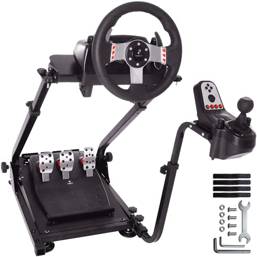 Minneer G29 Racing Steering Wheel Stand Pro for Logitech G25 G27 G29 G920 Racing Simulator Cockpit Video Game Accessories Shifter Wheel Pedals NOT Included