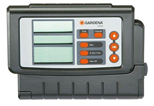 Gardena Classic Bewässerungssteuerung 4030: Bewässerungscomputer zur automatischen Bewässerung, großes Display, für bis zu 4 Ventile (1283-20)