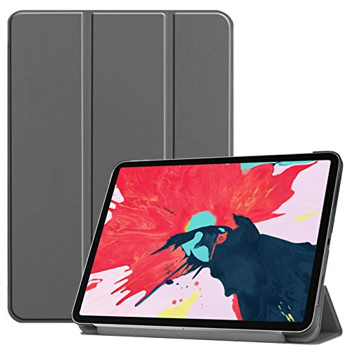 Pc-Glq Case Magnetic Case for Ipad Pro 11 2020, Ultra Slim Smart Magnetic Back,Trifold Stand Protective Cover with Auto Wake/Sleep,Gray