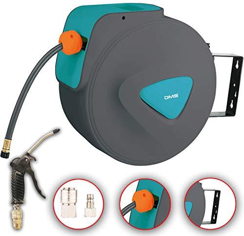 Preisvergleich Produktbild DMS® Druckluftschlauch Aufroller Automatik Schlauchtrommel EU 1 / 4 Trommel Wandschlauchhalter Schlauchaufroller Druckluftschlauch-Aufroller Druckluftschlauch-trommel DST (10 Meter,  Blau)