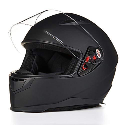WUYEA Casques De Moto avec Masque Entièrement Recouvert De Casque De Vélo De Personnalité Vintage pour Hommes Et Femmes,XL