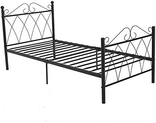 Moderne Schlafzimmermöbel für Erwachsene und Kinder, Metall Bettgestelle, kann mit den meisten Schlafzimmer angepasst werden,Black