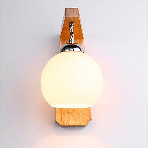 WEXLX Appliques en bois créatifs lampe murale pour Chambre Salon Diamètre du couloir de transport en commun20 cm25cm