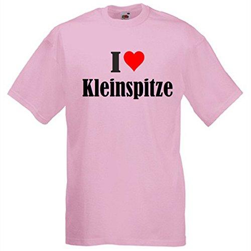 Camiseta con texto 'I Love Kleinspitze para mujer, hombre y niños en los colores negro, blanco y rosa. rosa XXL