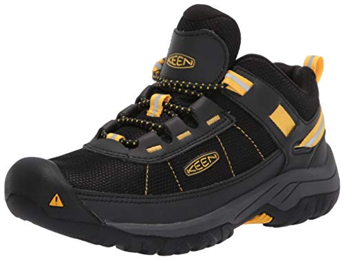 KEEN Unisex Kids' Targhee Sport WP Hiking Shoe, Black Yellow