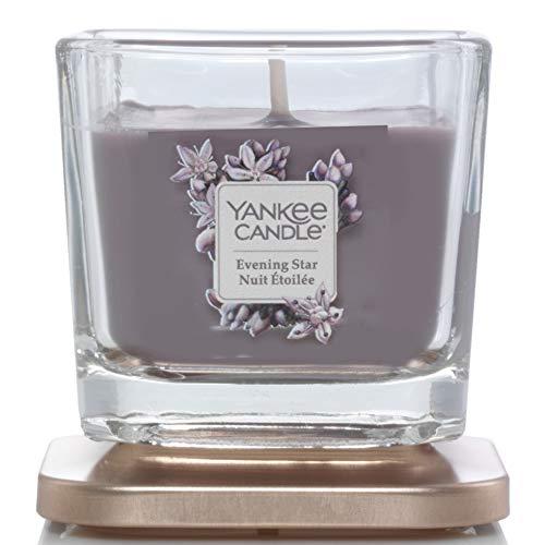 Yankee Candle Elevation Collection piattaforma con coperchio piccolo 3-wick Square Candle, Evening Star