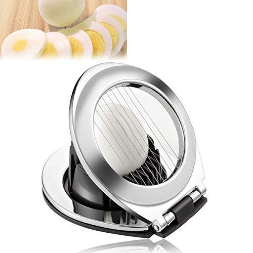 Eierschneider aus Edelstahl, Eierschneider 3 in 1, Eierschneider Egg Slicer Splitter Chopper für Gekochten Eiern,Erdbeeren,Pilzen,Salaten, Spülmaschinenfest 3-in-1