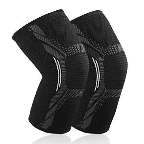 Sportout 2er Pack Kniebandage,Elastische atmungsaktive Knieschoner,Anti-Rutsch Kompression Knieorthese perfekt für Meniskusriss, Arthritis, Sehnenentzündung,Laufen,Kniebeugen,Sport, Damen und Herren