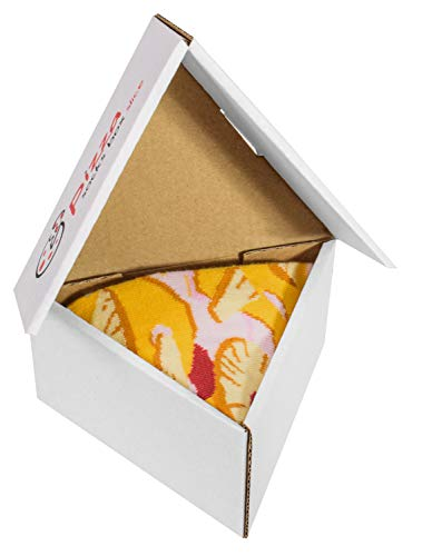 Pizza Socks Box Slice - Hawaii - Damen Herren Pizza Socken 1 Paar - Größen 36-40