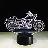 Mobestech 3D Motorcycle Night Light 3D Illusion Lamp LED Motorcycle Table Lamps 7 Colors Touch Light Kids Bedroom Decorations Centerpieces