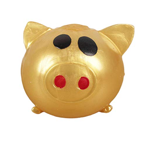 Greatangle Juguetes para niños Jello Pig Cute Anti Stress Splat Water Pig Ball Vent Toy Venting Sticky Pig No tóxico Clear Relief Stress Toys