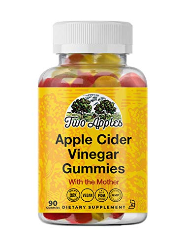 ACV Gummies - Raw Apple Cider Vinegar with Mother (Vegan and Non-GMO - 90 Gummies)