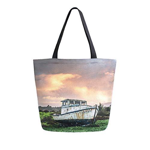 RURUTONG Ferry Bolsa de lona a granel para comestibles, bolsa de playa de hombro grande, reutilizable, bolso multiusos resistente, compras para césped al aire libre 2011545