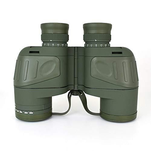 CARACHOME Binoculares Militares 10X50 Brújula telescopio de visión Nocturna con Poca luz Brújula con Lente FMC Telémetro Muy Adecuado para Turismo Viajes de observación de Estrellas Concierto de Caza