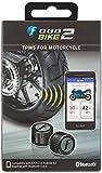 Fobo Bike 2 TM1802, Sistema TPMS di monitoraggio della pressione dei pneumatici moto con 2 sensori, Nero, 3V