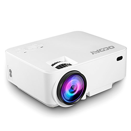 Mini Projector, OCDAY 1500 Lumens LCD Support 1080P VGA/HDMI/USB/SD/AV Input for Home Cinema TV Laptop Game iPhone Andriod Smartphone