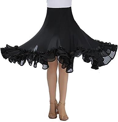 Whitewed Square Ballroom Latin Dancing Ddance Practice Wear Costume Half Skirts