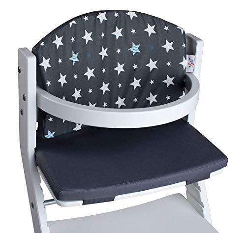 TiSsi 100010 Polster grau Sterne für Kinderhochstuhl, mehrfarbig, 0.27 kg