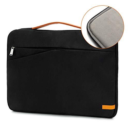 Laptop Bag for Men Women Commute Briefcase 17 Inch Laptop Sleeve Laptop Protective Case Notebook Slim Laptop Case Business Messenger Bag, BLACK