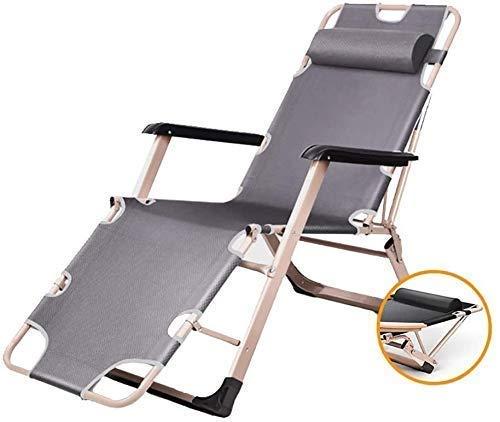 Espreguiçadeiras de jardim Cadeiras de Sol Espreguiçadeiras Reclináveis Zero Gravity Patio Deck Chair Cadeira de jardim reclinável dobrável ao ar Livre portátil Suporta 200 kg (Cor, Azul), Cinza