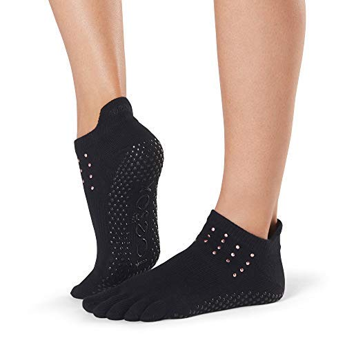 Toesox Women's Grip Full Toe Low Rise, Flash, Small