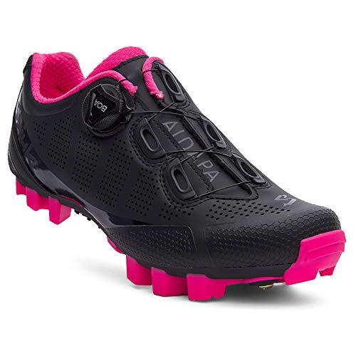 Spiuk Sportline MTB-Schuhe ALDAPA, für Erwachsene, Unisex, Mattschwarz/Fuchsia, Größe 40