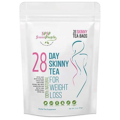 Detox Tea Diet Tea for Body Cleanse - 28 Day Weight Loss Tea for Women, Natural Ingredients, GPGP GreenPeople Skinny fit Tea for Slim, Belly Fat (28days) by Dsl Store