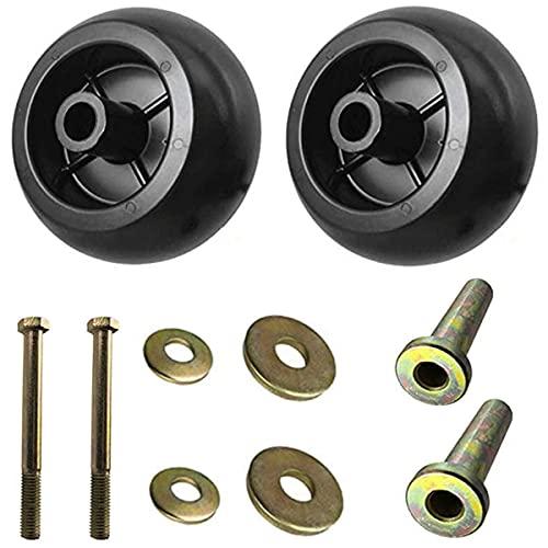Cawizk 103-3168 Anti Scalp Deck Wheels Kit for Exmark 1-603299 103-4051 Bad Boy 022-5234-98 Toro 68-2730 Kubota K5351-42110 Hus 539 10 26 43 Lawn-Boy 1-603299 Bore 5/8' Wheel Size 5-2.75-(2 Pack)