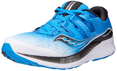 Saucony Ride ISO White/Black/Blue 10 EE - Wide