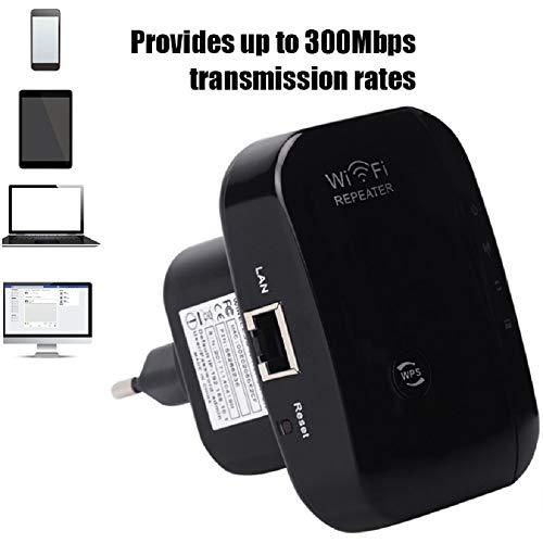 Dual Mode WiFi-router en Booster WiFi Signal Range Extender 300Mbps Wireless Repeater ingebouwde antenne Ethernet LAN-poort 2,4 GHz versterker voor Router WPS met Wall Mount