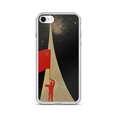 IPOCA Compatibile con iPhone 6 /6s Cover all The Way up to The Stars - Soviet Union Propaganda Cover Cover