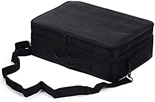 SODIAL Black Professional Makeup Storage Bag Large Capacity Waterproof Portable Makeup Beauty Nail Kit