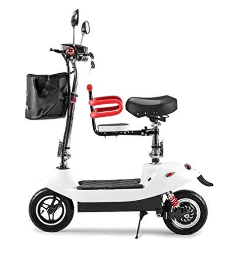 WXDP Patineta Cruiser Pro,Bicicletas eléctricas Plegables para Adultos Mini Scooter City Pedal...