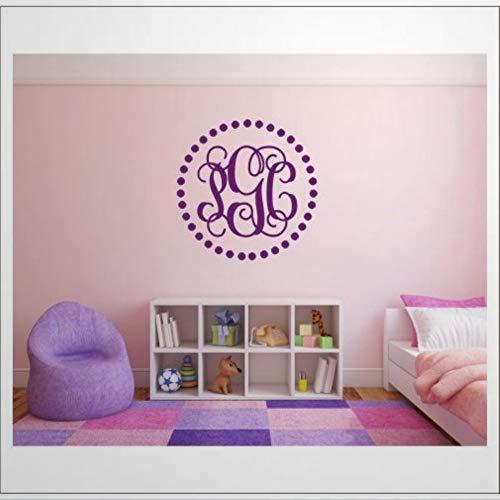 Vine, monograma de lunares, borde de cama, decoración de pared, decoración de pared, póster extraíble para dormitorio, sala de estar, guardería interior.